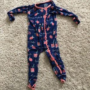 Kickee pants Lemonade pajamas